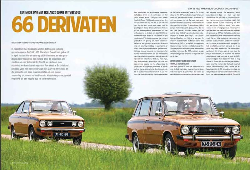 DAF 66 1300 Marathon Coupe en Volvo 66 GL