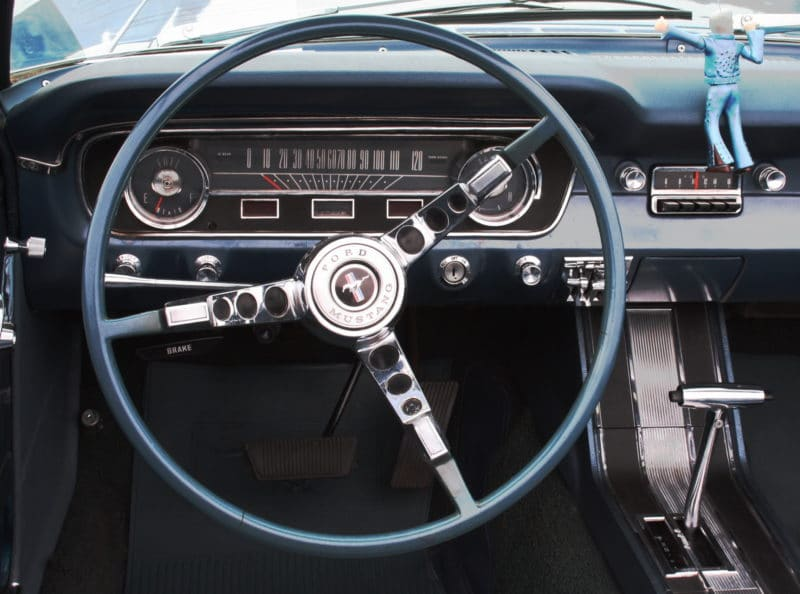 Ford Mustang Bj 1964 100 PS 6 Zylinder 33 l Hubraum Armaturen