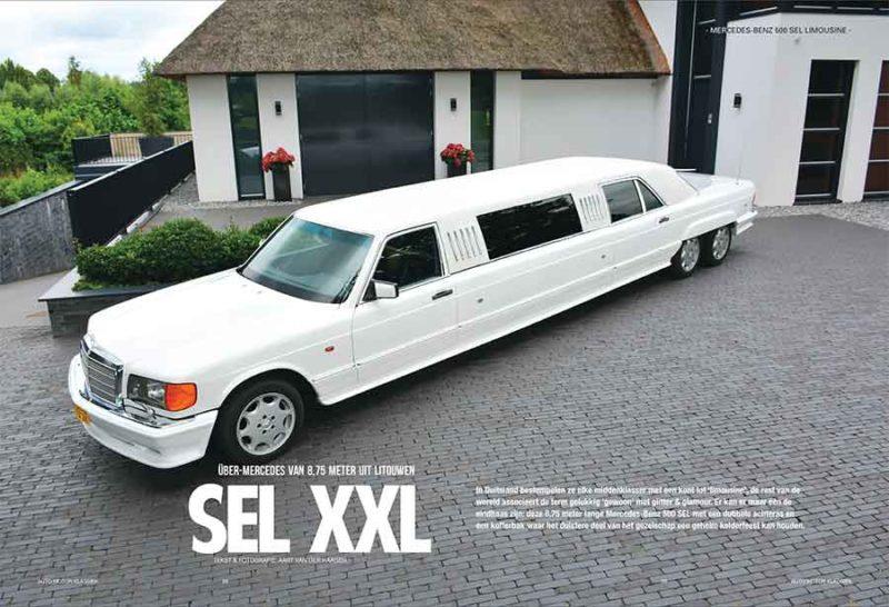 Mercedes Benz 500 SEL limousine