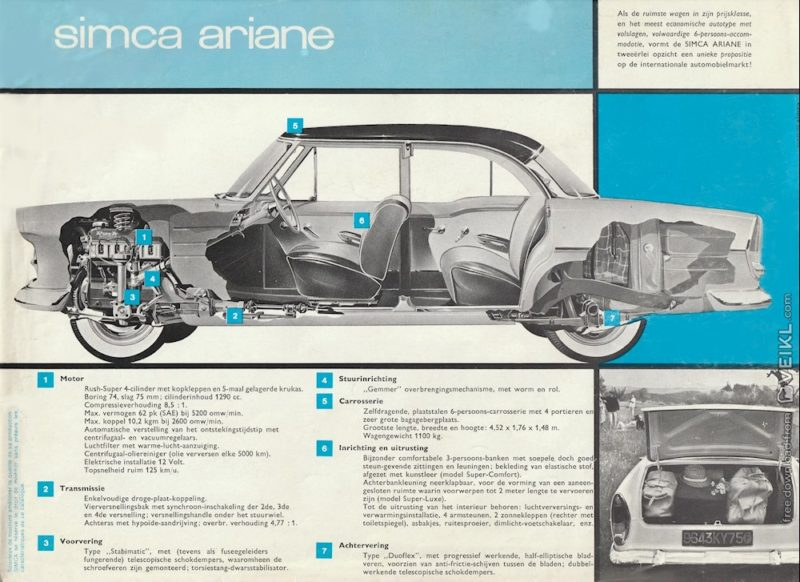 Simca Ariane Brochure 1963 NL 2